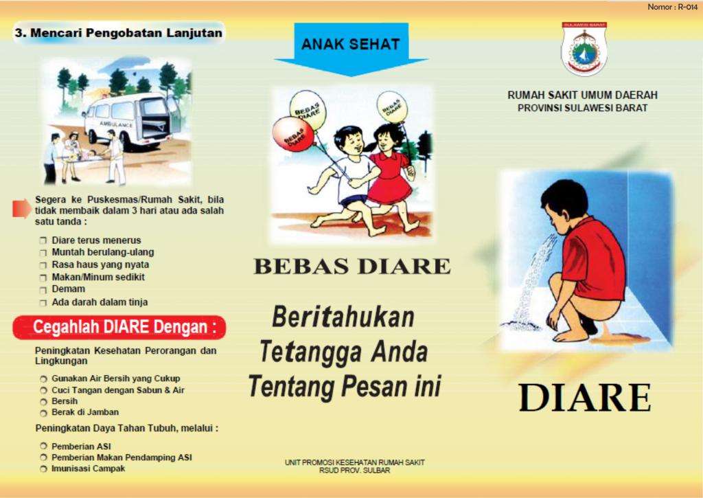 Leaflet Edukasi Kesehatan Tentang Diare Rsud Sulbar