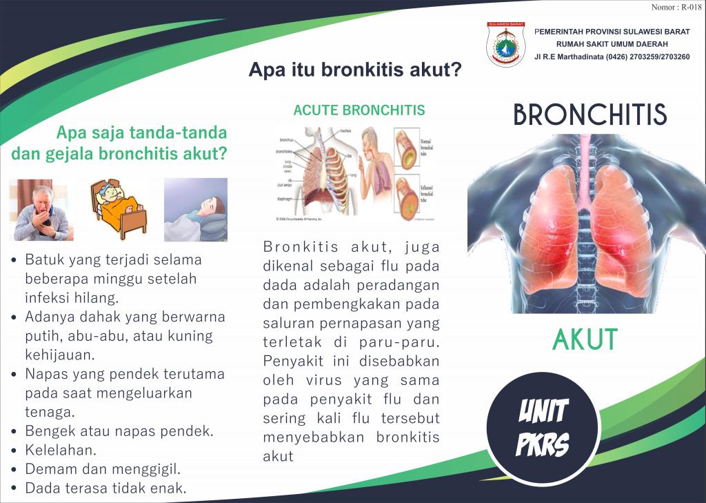 Leaflet Edukasi Kesehatan Tentang Bronchitis Akut Rsud Sulbar
