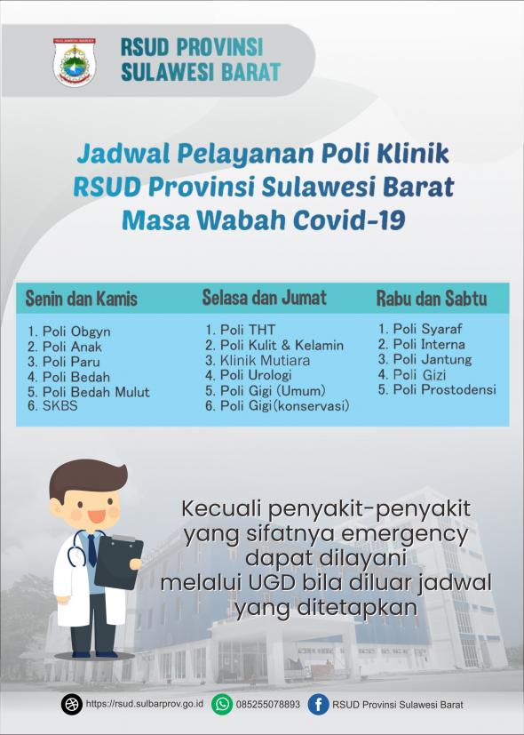 jadawal pelayanan poli klinik